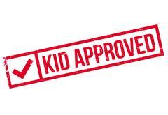 Kid Approved rubber stamp Stock Illustration