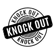 Knock Out rubber stamp Stock Illustration