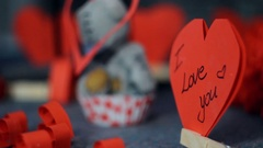 I love you in the heart shap Stock Footage