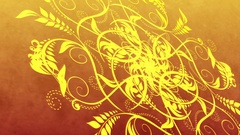 Red and Yellow Abstract Flourishes Animation Stock Footage