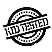 Kid Tested rubber stamp Stock Illustration
