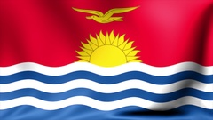 Kiribati Flag. Background Seamless Looping Animation. 4K High Definition Video Stock Footage