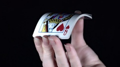 4k Poker Composition Cards Flying Stock Footage