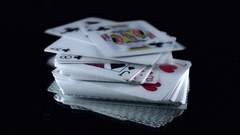 4k Poker Composition Cards Falling Stock Footage