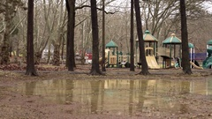 Flooding in kids park Stock Footage