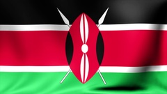 Kenya Flag. Background Seamless Looping Animation. 4K High Definition Video Stock Footage