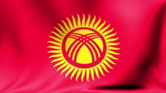 Kyrgyzstan Flag. Background Seamless Looping Animation. 4K High Definition Video Stock Footage