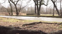 High water level in channel Stock Footage