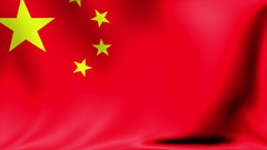 China Flag. Background Seamless Looping Animation. 4K High Definition Video Stock Footage