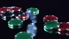 4k Poker Composition of Chips Spinning Stock Footage