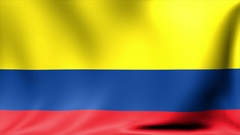 Colombia Flag. Background Seamless Looping Animation. 4K High Definition Video Stock Footage