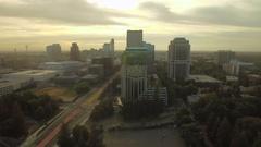Aerial California Sacramento September 2016 4K Stock Footage