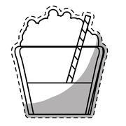 Figure mocha glass icon image Stock Illustration