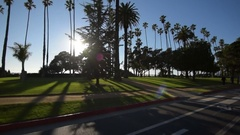 Driving Plates Multi Angle Santa Monica 10 CAM4 3/4R Beach Resort 60fps Stock Footage