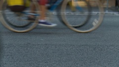 Bicycle Wheels Background Stock Footage