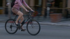 Bicycles Speed By Stock Footage
