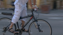Bicyclist Races By Stock Footage