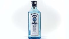 4k - Gin bottle rotating on white background Stock Footage