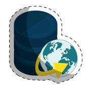 Web hosting or data center related icons image Stock Illustration