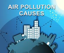 Air Pollution Causes Means Contamination 3d Illustration Piirros