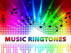 Music Ringtones Means Telephone Melody Ring Tone Stock Illustration