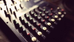 Sound mixer detail Stock Footage