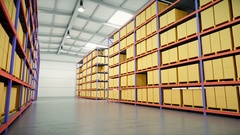 Interior Of A Large Modern Warehouse Stock Footage