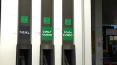 Petrol and diesel distributor Stock Footage