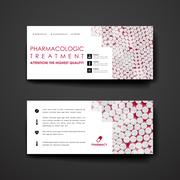 Set of modern design banner template in DNA molecule style Stock Illustration