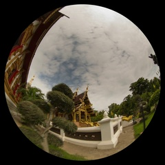 Thailand temple timelapse with fisheye lens Stock Footage