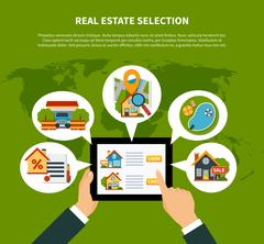 Real Estate Selection Concept Stock Illustration