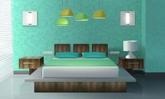 Bedroom Interior Design Stock Illustration