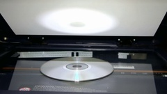 Copy cd drive using the copier Stock Footage
