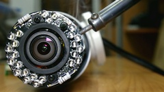 Repair ip surveillance camera Stock Footage