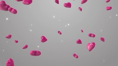 Animation of pink hearts on the beautiful background Stock Footage