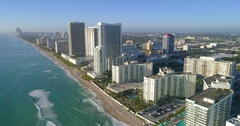 Aerial drone footage of Hallandale Beach Stock Footage