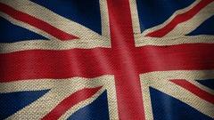 Burlap Flag of British. Stock Footage