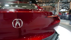 4K Acura Concept Car at Auto Show 2017 Stock Footage