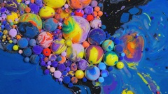 Dissolving Paint In Water Chemical Reaction Universe Of Color Concept Stock Footage