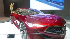4K Acura Concept Car on Display at Auto Show 2017 Stock Footage