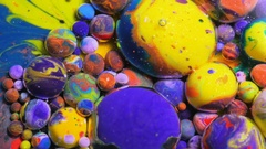 Macro Dissolving In Water Multicolored Background Texture Colorful Bubbles Stock Footage
