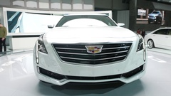 4K Cadillac CT6 on Display at Auto Show - Luxury Car Market Stock Footage