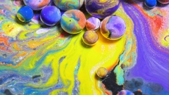 Moving Liquid Color Dissolving In Water Slow Motion Moving Surface Colorful Stock Footage