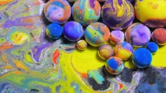 Splashing Bubble Bursting Colorful Bubbles 4K Dissolving In Water Multicolored Stock Footage