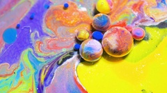 Moving Surface Bubble Bursting Art Design Colorful Bubbles Moving Stream Of Ink Stock Footage