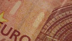 Ten Euro Banknotes Rotating Closeup Stock Footage