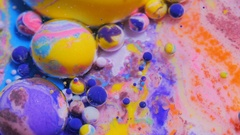 Splashing Vibrant Wallpaper Moving Stream Of Ink Multicolored Background Moving Stock Footage