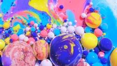 Colorful Bubbles Texture Bubble Bursting 4K Vibrant Wallpaper Artistic Concept Stock Footage
