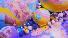 Colorful Bubbles Bubble Bursting Abstract Pattern Macro  Art Design Chemica Stock Footage