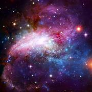 Spiral galaxy in deep space. Stock Photos